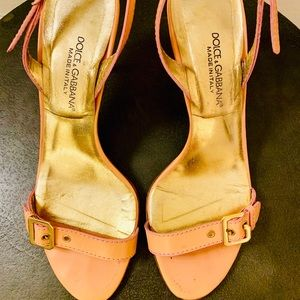 Dolce & Gabbana Pink Slingbacks with a 'D' and 'G'